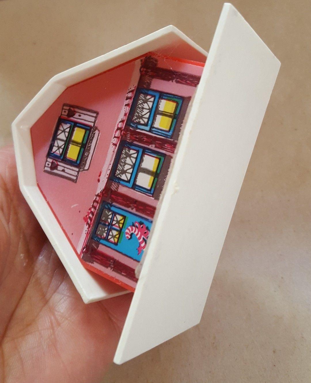 VTG Plastic Christmas xmas Village pink House made in Hong Kong holiday decor - $15.79