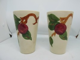 "FRANCISCAN Apple 5"" Tumblers 10oz (2) American Backstamp Hand Decorated EUC - $29.95"