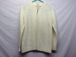 Fully Fashioned Society Cream Colored Sweater Sz S
