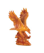 detailed Eagle in flight in rich faux-wood fin... - $21.97