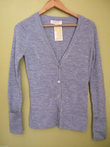 NWT Michael Kors Pearl Heather Gray Wool Cardigan Button Down Sweater S $170 - $89.00