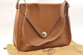 HERMES Christine Shoulder Bag Leather Brown Auth 5676 - $1,280.00