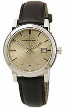 NWT Burberry BU9011 Men's Swiss Quartz Fawn Dial Brown Leather Watch - $217.75