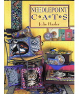 Needlepoint Cats by Julie Hasler Hardcover Out ... - $13.79