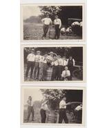 3 Old Snapshot Photo's of Guys Changing a Tire ... - $9.00