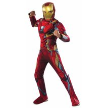 Boy's Deluxe Muscle Iron Man Costume - $38.95