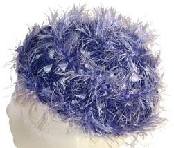 Purple Fuzzy Crochet Beanie Hat - €10,59 EUR