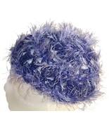 Purple Fuzzy Crochet Beanie Hat - $11.80