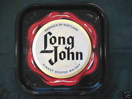 Vintage LONG JOHN SCOTCH WHISKY SCOTLAND Souvenir Beer Tray Collectible - $24.95