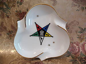 OES Order of the Eastern Star Ashtray Souvenir Collector Collectible Vintage