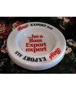 Bass Export Ale Beer Ashtray Vintage Souvenir Collector White Glass Coll... - $7.95
