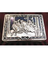 Vintage RILEYS TOFFEE Candy Tin FALCONS MEDIEVAL Souvenir HUNTING Hunters  - $24.95