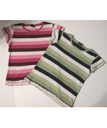 Girls' Crew Neck Tops Short Sleeve Size L (10 - 12) Qty 2, The Children'... - $5.92