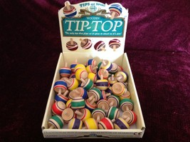 Assorted House of Marbles Wooden Tip Top Tops Flip as Spin Assorted Colors