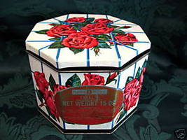 Vintage HUNTLEY and PALMERS Biscuit Tin Cookie Tin Souvenir ROSES Trellis  - $19.95