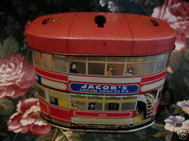 Vintage JACOBS Cream Crackers and COLMANS Mustard Tin Money BANK Coin Box - $19.95