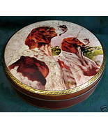 Vintage WILKIN CREMONA RED BOY TOFFEE Tin Candy ENGLISH POINTER DOGS Sou... - $14.95