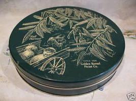 FALL HARVEST GOLDEN KERNEL PECAN Nuts Tin Souvenir Vintage Nut Farmer Co... - $9.95