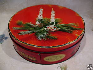CHRISTMAS Cookie Tin CORONATION QUEEN ELIZABETH II Coronation 1953 Souvenir