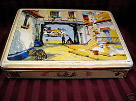 Vintage GRAY DUNN Biscuit Cookie Tin Can POLPERRO CORNWALL ENGLAND Souve... - $24.95
