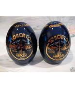Toronto Ontario Souvenir Salt and Pepper Shakers Set Cobalt Blue Canada ... - $9.95