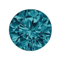 Natural Blue Diamond Melee, 2.5mm Round, SI2, Z+ Fancy Color, April, Loo... - $39.95