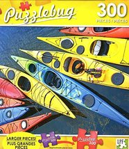 Colorful Sea Kayaks - 300 Large Pieces Jigsaw Puzzle - Puzzlebug - p 003 - $11.38