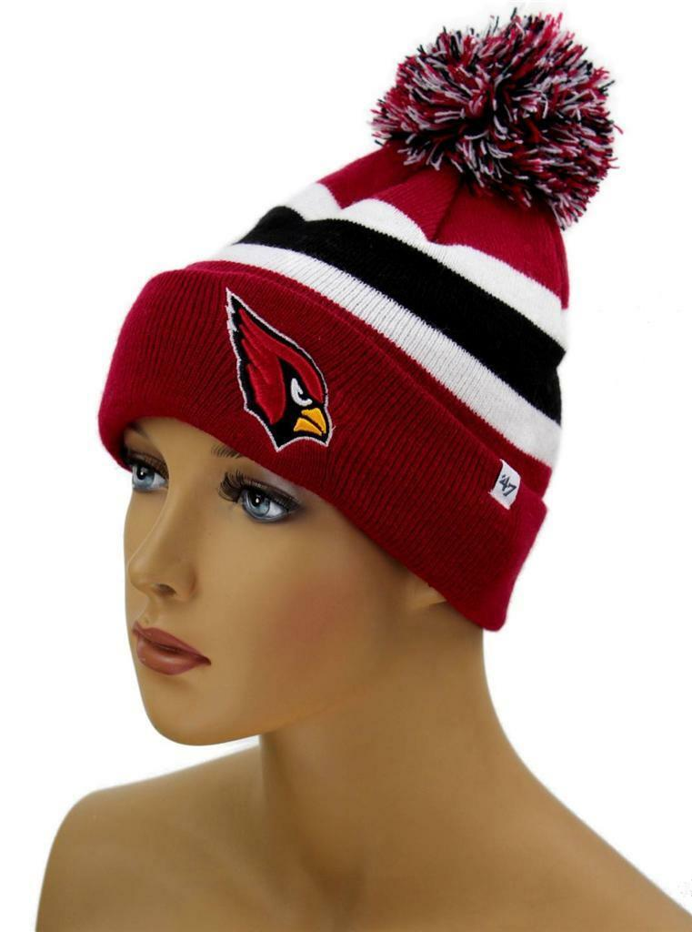 NEW FORTY SEVEN 47 STRIPED HAT CAP BEANIE NFL SAINT LOUIS CARDINALS ONE SIZE