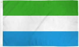"SIERRA LEONE 3X5' FLAG NEW 36X60"" BIG - $9.85"