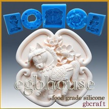 2D Silicone sugar/fondant/chocolate Mold-Oriental Zodiac Horse-buy from ... - $29.19