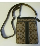Coach Signature C Crossbody Bag Khaki and Brown #6016 VGC - $24.00