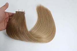 14 Inch Tape in Hair Extensions Brazilian Straight Hair Unprocessed Remy Human H image 6