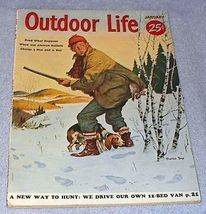 Outdoor Life Magazine January 1955 Charles Dye Cover Hunt Fish Boat - $7.95