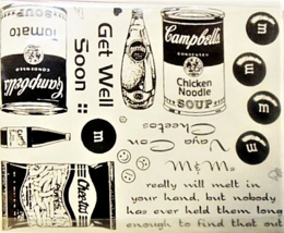 Stamp Camp Unmounted Rubber Stamp Fast Food Background