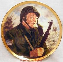 Franklin Mint Collector Plate Salute To The Soldier John Wayne - $19.95