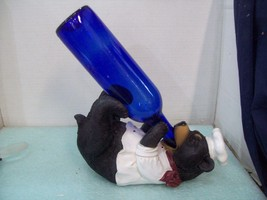 Wine Bottle Holder and/or Decorative Sculpture Bear Chef NEW - $375,23 MXN