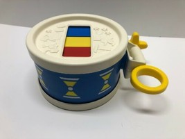 Vintage 1976 Fisher Price Xylo Drum & Mallet Stick Toy Instrument Xyloph... - $22.72