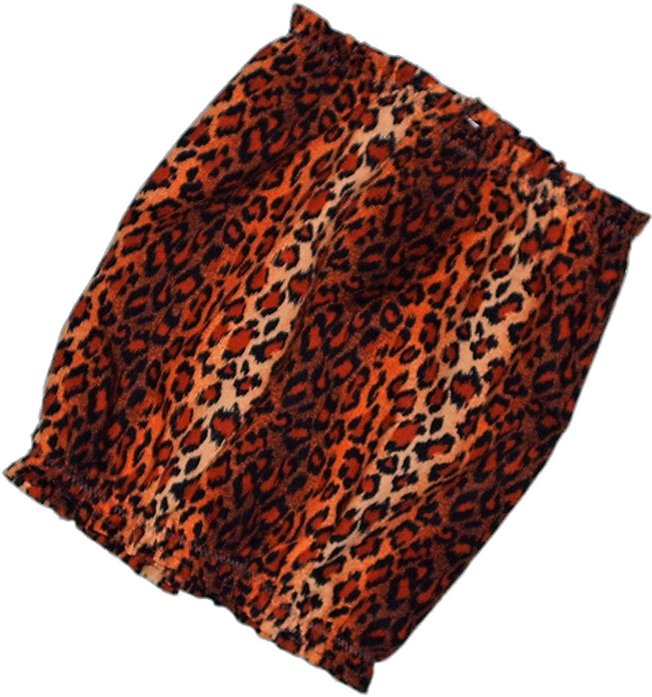 Leopard Ombre Stripe Cotton Dog Snood by Howlin Hounds Size Puppy Short