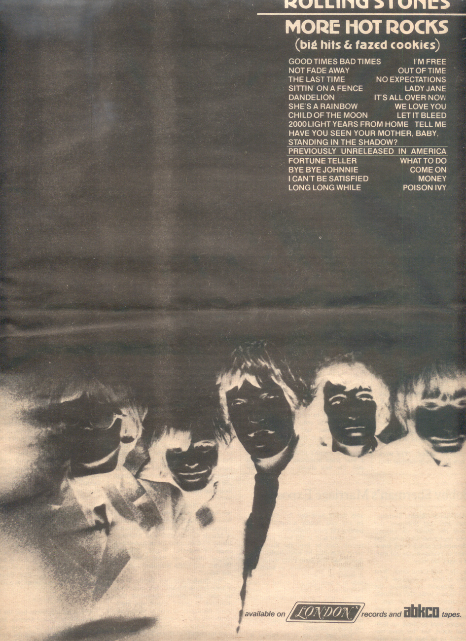 Rolling stones more hot rocks ad