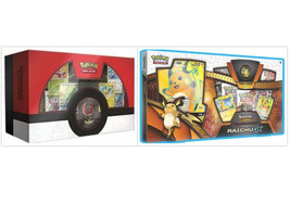 Pokemon TCG Shining Legends Raichu GX Collection Box and Ho-Oh Super Pre... - $119.99