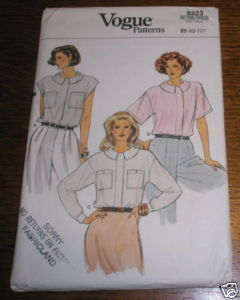 VOGUE PATTERN #9223 SZ 8-10-12 BLOUSE UNCUT