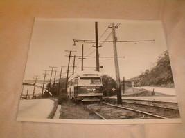 railroad bus train photo photograph 1950s reprint ardmore pittsburgh B/W - $60.97