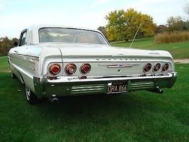 1964 Chevrolet Impala SS Sport Coupe rear white   24 x 36 INCH   sports car - $18.99