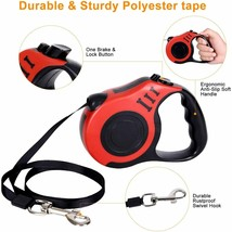 YSCPRO Retractable Pet Leash 16ft Heavy Duty, Red, For Pets Up to 30 Pounds image 2