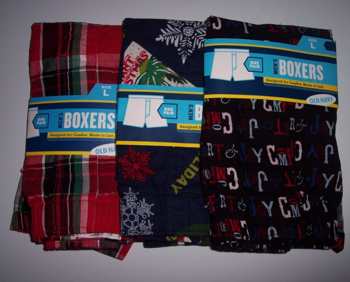 Men's Old Navy Holiday Boxers Large