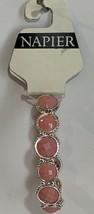 Napier Pink / Silver Round Stretch Bracelet NWT $28 - $11.88