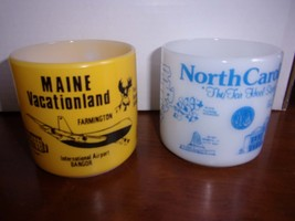 1970s Federal Glass Coffee Cup Mugs Maine North Carolina Choice - €18,27 EUR