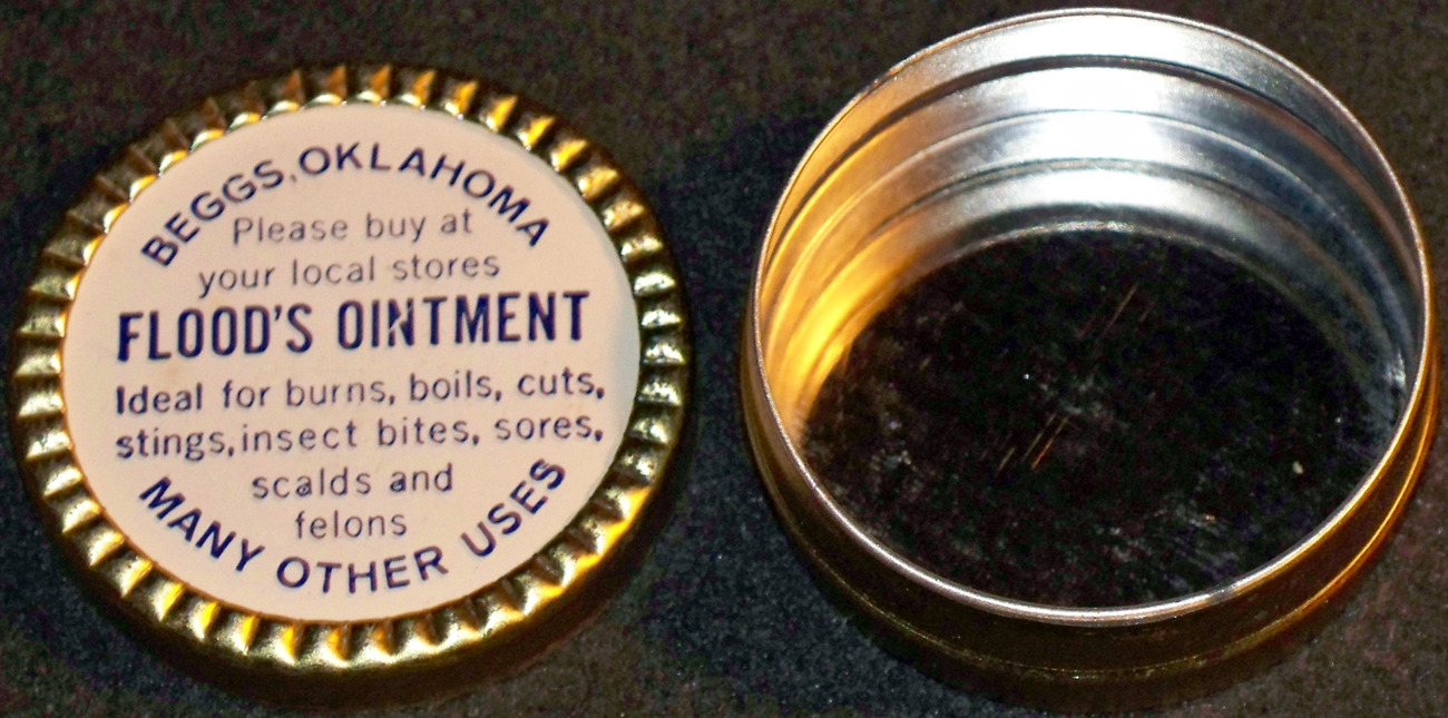 Fresh Find! Flood's Ointment Advertising Tin, 1930's