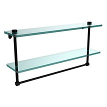 Allied Brass NS-2/22TB-BKM 22 Inch Two Tiered Glass Shelf with Integrate... - $176.94