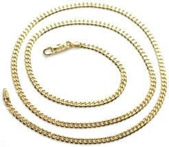Chain Yellow Gold 750 18K, 50 CM, Groumette Flat, Thickness 2.8 MM, Full image 3